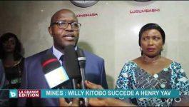 Mines: Willy Kitobo succède à Henry Yav